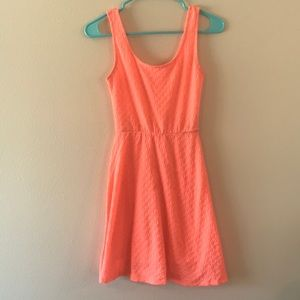 Mossimo orange spandex dress